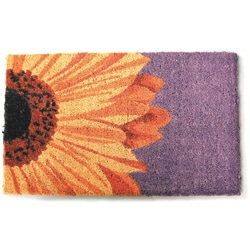 Beautiful Sunflower Non-slip Coir Doormat (1'5 x 2'4)