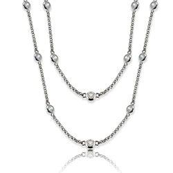 La Preciosa Silvertone 36-inch Cubic Zirconia Necklace