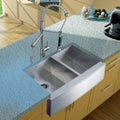 Vigo Farmhouse 36x20-inch Stainless Steel Kitchen Sink/ Faucet/ Two Strainers/ Dispenser