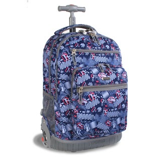 J World 'Sunset' Blinker Blue 19.5-inch Rolling Laptop Backpack
