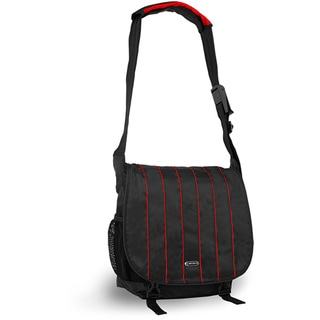 J World 'Jeanie' Black/ Red Laptop Messenger Bag