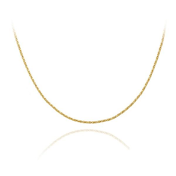 Mondevio 18k Gold over Silver 24-inch Twisted Box Chain Necklace