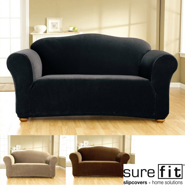 Sure Fit Stretch Corduroy Loveseat Slipcover