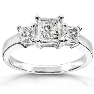 Annello 14k White Gold 1 3/8ct TDW Diamond Engagement Ring (G-H, I2-I3)