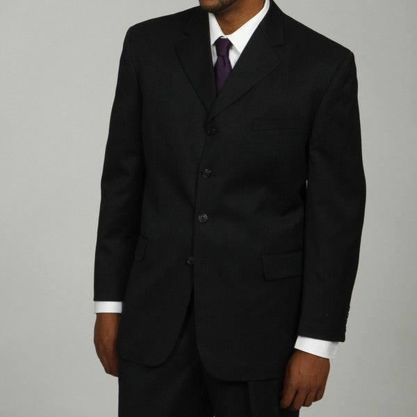 Bendetti Men's Charcoal Wool 4-button Suit