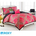Roxy Field Floral 16-inch Flocked Decorative Pillow