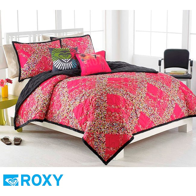 Roxy Field Floral 16-inch Surf Decorative Pillow