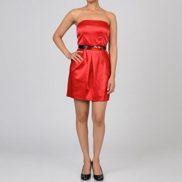 Jump Girl Women's Junior Jeweled Belt Dress