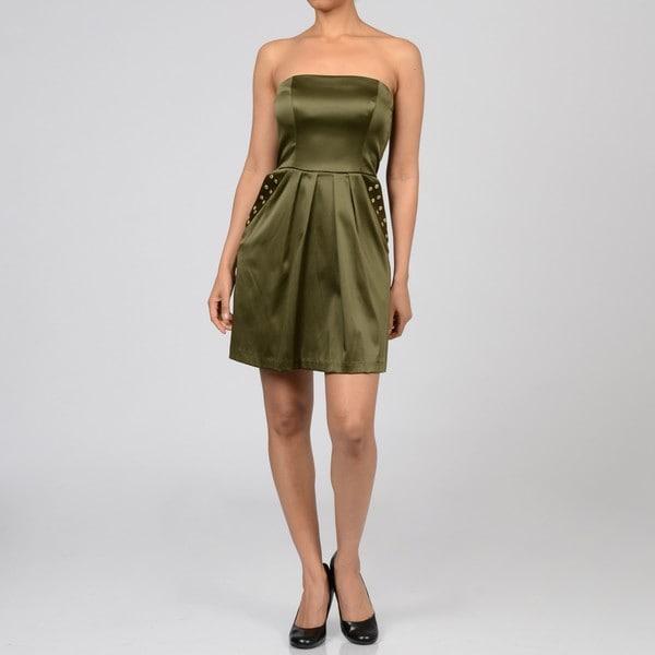 Jump Girl Women's Junior Strapless Hardware Dress
