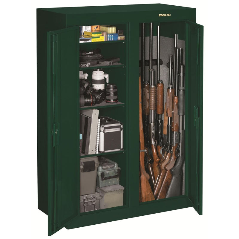 Stack on double door steel security cabinet 13676565 for 10 gun double door steel security cabinet