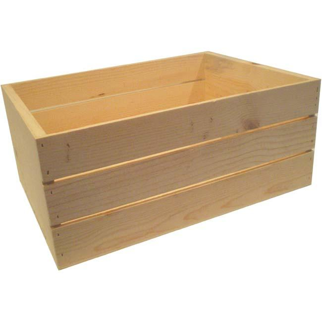 Large 22 Inch Wooden Crate 13676569 Overstock Com