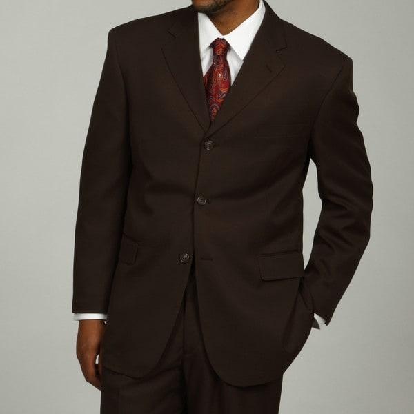 Lucelli Men's Brown Notched Lapel 3-button Suit