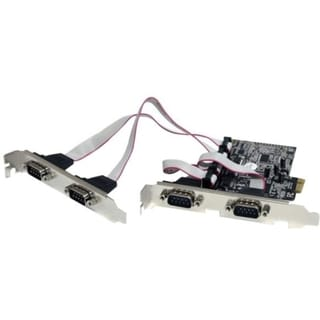 StarTech.com 4 Port Native PCI Express RS232 Serial Adapter Card with