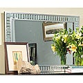 angelo:HOME Marlowe Landscape Wood, Glass and Metal Mirror on Mirror