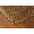 Manhattan Tweed Brown/Gold Shag Runner Rug (2'3