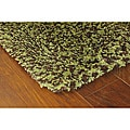 Manhattan Tweed Green/ Brown Shag Rug (2'3 x 7'9)