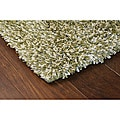 Manhattan Tweed Green/ Ivory Shag Rug (2'3 x 7'9)