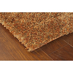 Manhattan Tweed Brown/ Gold Shag Rug (2'3 x 7'9)