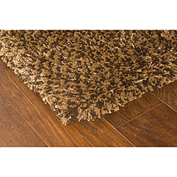 Manhattan Tweed Brown/Gold Shag Area Rug (5' x 8')
