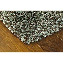 Manhattan Tweed Blue/ Brown Shag Rug (5' x 8')