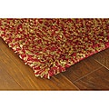Manhattan Tweed Red/ Gold Shag Rug (5' x 8')
