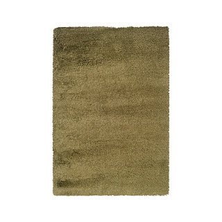 Manhattan Tweed Green/ Gold Shag Rug (5' x 8')