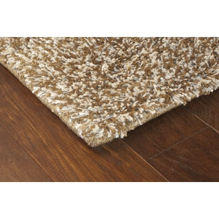 Manhattan Tweed Brown/ Ivory Shag Rug (5' x 8')