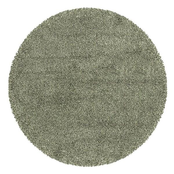 Manhattan Tweed Blue/ Ivory Shag Rug (6' Round)