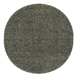 Manhattan Tweed Black/ Ivory Shag Rug (6' Round)