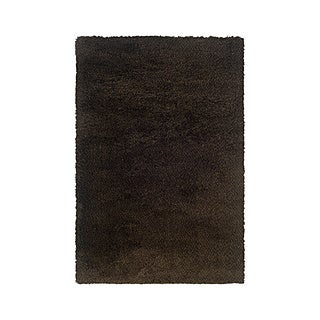 Manhattan Tweed Brown/ Black Shag Rug (6'7 x 9'6)