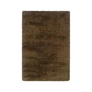 Manhattan Tweed Brown/ Gold Shag Rug (6'7 x 9'6)