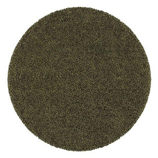 Manhattan Tweed Green/ Brown Shag Rug (8' Round)