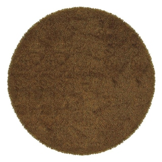 Manhattan Tweed Red/ Gold Shag Rug (8' Round)