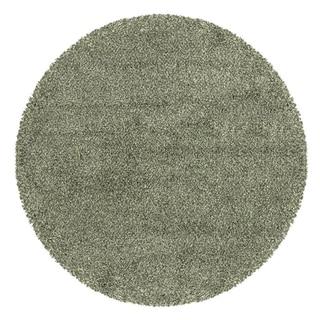 Manhattan Tweed Blue/ Ivory Shag Rug (8' Round)