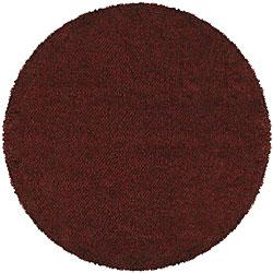 Manhattan Tweed Red/ Brown Shag Rug (8' Round)
