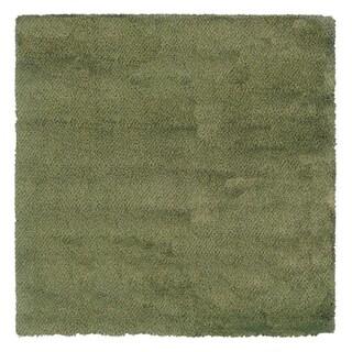 Manhattan Tweed Green/ Blue Shag Rug (8' Square)