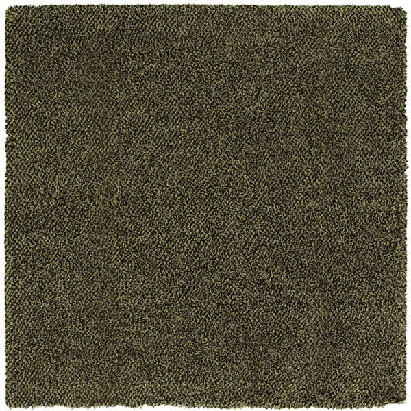 Manhattan Tweed Green/ Brown Shag Rug (8' Square)