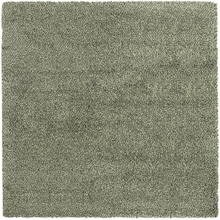 Manhattan Tweed Blue/ Ivory Shag Rug (8' x 8')