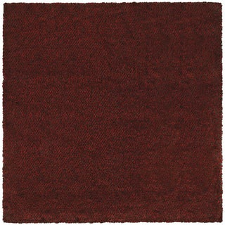 Manhattan Tweed Red/ Brown Shag Rug (8' x 8')