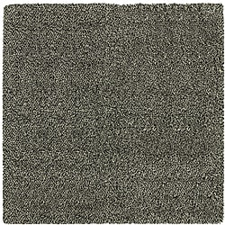 Manhattan Tweed Black/ Ivory Shag Rug (8' x 8')