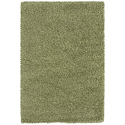 Manhattan Tweed Green/ Ivory Shag Rug (7'10 x 11'2)