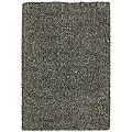 Manhattan Tweed Black/ Ivory Shag Rug (7'10 x 11'2)