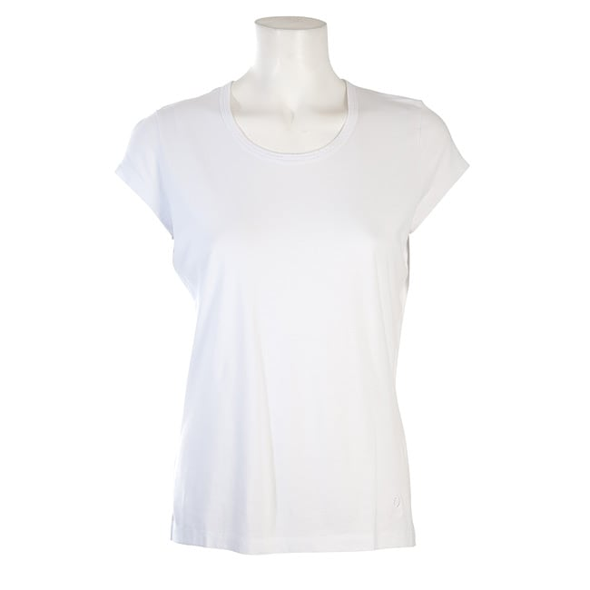 Women's White Cap-sleeve T-shirt