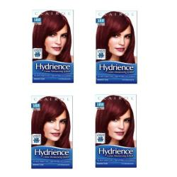 Clairol Hydrience #3RR Ruby Twilight, Intense Dark Red Hair Color (Pack of 4)