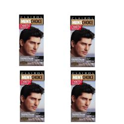 Clairol Men's Choice #M44 Black Shampoo Hair Colors (Pack of 4)