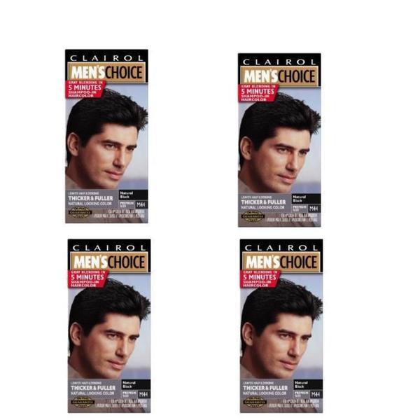 Clairol Men's Choice #M44 Black Shampoo Hair Colors (Pack of 4)