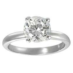 Journee Collection Silvertone Round CZ Bridal & Engagement style Ring