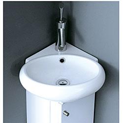 Milan 12 Inch Wood White Bathroom Vanity