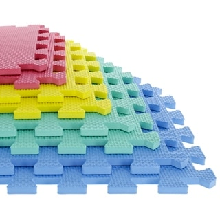 Multi-color 8-piece EVA Foam Exercise Mat Set