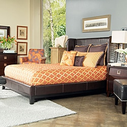 angelo:HOME Marlowe California King-size Bonded Leather Shelter Bed